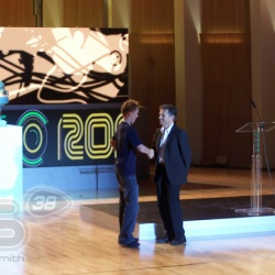 <p>Bradley attends his first ever MotoGP Awards.</p>
