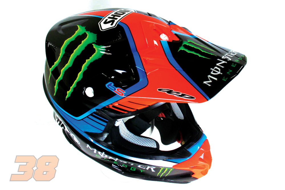 custom ocd shoei vfx w helmet bradley smith 38. Black Bedroom Furniture Sets. Home Design Ideas
