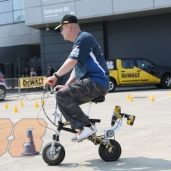 <p><span>Bradley was invited by Tech 3 team sponsor Dewalt, to&nbsp;the launch of a new range of power tools hosted at the wing facility/silverstone circuit.</span></p>