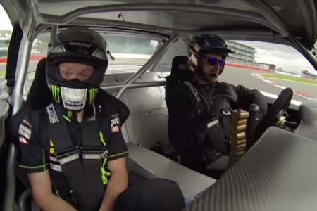 Bradley Smith takes a ride with Ken Block