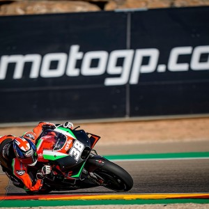 Third RS-GP on track with Smith and the Aprila Racing Test Team