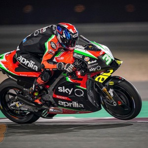 Lots of work on the new Aprilia V4 for Smith